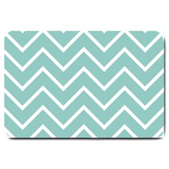 Blue And White Chevron Large Door Mat