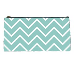 Blue And White Chevron Pencil Case