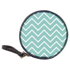 Blue And White Chevron Cd Wallet