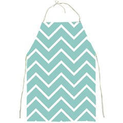 Blue And White Chevron Apron