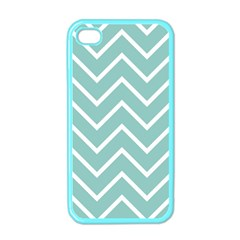 Blue And White Chevron Apple Iphone 4 Case (color)