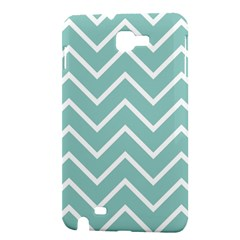 Blue And White Chevron Samsung Galaxy Note 1 Hardshell Case