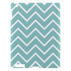 Blue And White Chevron Apple iPad 3/4 Hardshell Case
