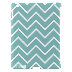 Blue And White Chevron Apple iPad 3/4 Hardshell Case (Compatible with Smart Cover)