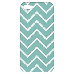 Blue And White Chevron Apple Iphone 5 Hardshell Case