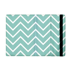 Blue And White Chevron Apple iPad Mini Flip Case