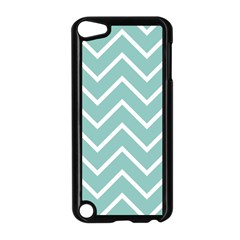 Blue And White Chevron Apple Ipod Touch 5 Case (black)