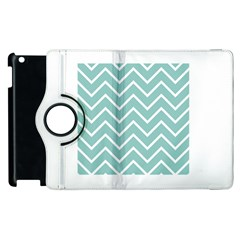 Blue And White Chevron Apple iPad 2 Flip 360 Case