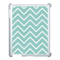 Blue And White Chevron Apple iPad 3/4 Case (White)