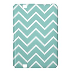 Blue And White Chevron Kindle Fire HD 8.9  Hardshell Case