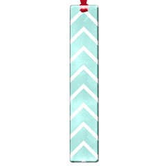 Blue And White Chevron Large Bookmark
