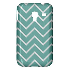 Blue And White Chevron Samsung Galaxy Ace Plus S7500 Hardshell Case