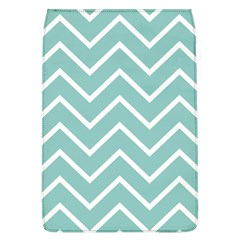 Blue And White Chevron Removable Flap Cover (large)