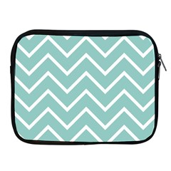 Blue And White Chevron Apple iPad Zippered Sleeve
