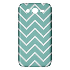 Blue And White Chevron Samsung Galaxy Mega 5.8 I9152 Hardshell Case