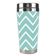 Blue And White Chevron Stainless Steel Travel Tumbler