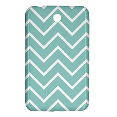 Blue And White Chevron Samsung Galaxy Tab 3 (7 ) P3200 Hardshell Case