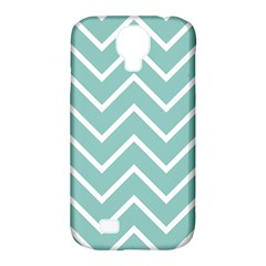 Blue And White Chevron Samsung Galaxy S4 Classic Hardshell Case (PC+Silicone)