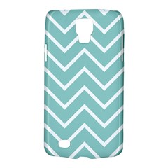 Blue And White Chevron Samsung Galaxy S4 Active (i9295) Hardshell Case