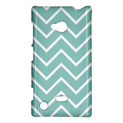 Blue And White Chevron Nokia Lumia 720 Hardshell Case