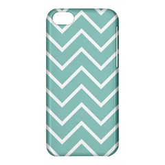 Blue And White Chevron Apple iPhone 5C Hardshell Case