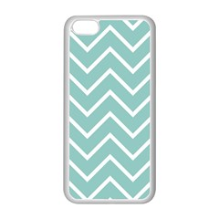 Blue And White Chevron Apple iPhone 5C Seamless Case (White)