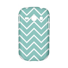 Blue And White Chevron Samsung Galaxy S6810 Hardshell Case