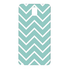 Blue And White Chevron Samsung Galaxy Note 3 N9005 Hardshell Back Case