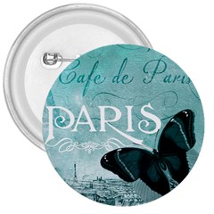 Paris Butterfly 3  Button
