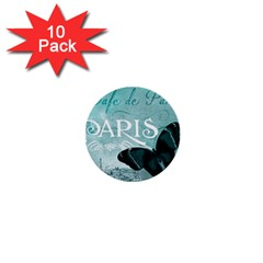 Paris Butterfly 1  Mini Button (10 Pack)