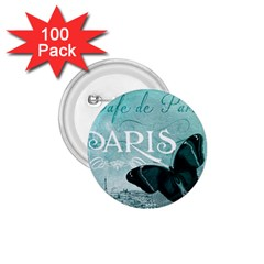 Paris Butterfly 1.75  Button (100 pack)