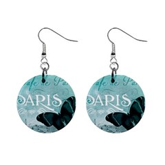 Paris Butterfly Mini Button Earrings