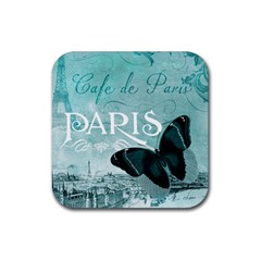 Paris Butterfly Drink Coaster (Square)