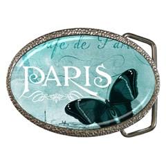 Paris Butterfly Belt Buckle (oval)
