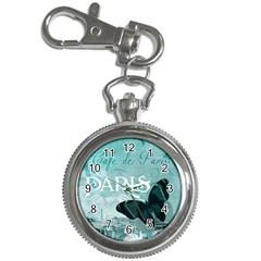 Paris Butterfly Key Chain Watch