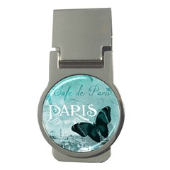 Paris Butterfly Money Clip (Round)