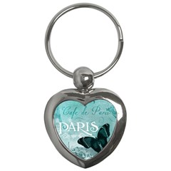 Paris Butterfly Key Chain (Heart)