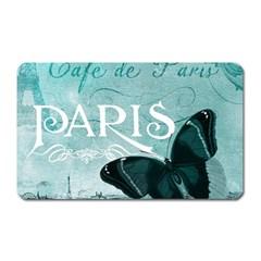 Paris Butterfly Magnet (rectangular)