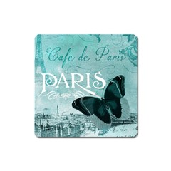 Paris Butterfly Magnet (square)