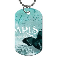 Paris Butterfly Dog Tag (Two-sided)