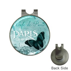 Paris Butterfly Hat Clip with Golf Ball Marker