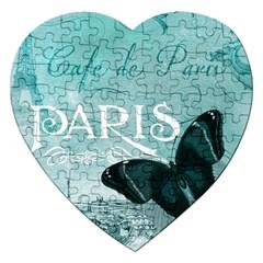 Paris Butterfly Jigsaw Puzzle (Heart)