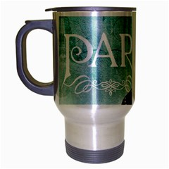 Paris Butterfly Travel Mug (Silver Gray)