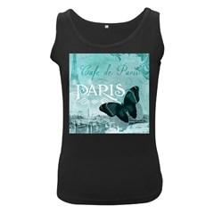 Paris Butterfly Women s Tank Top (Black)