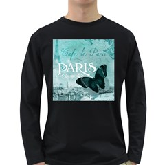 Paris Butterfly Men s Long Sleeve T-shirt (Dark Colored)