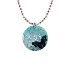 Paris Butterfly Button Necklace