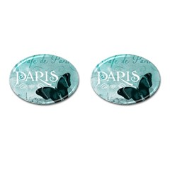 Paris Butterfly Cufflinks (oval)