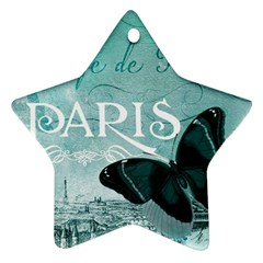 Paris Butterfly Star Ornament (two Sides)