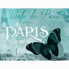 Paris Butterfly Canvas 12  x 16  (Unframed)