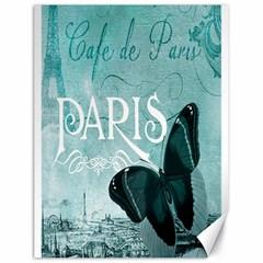 Paris Butterfly Canvas 18  x 24  (Unframed)